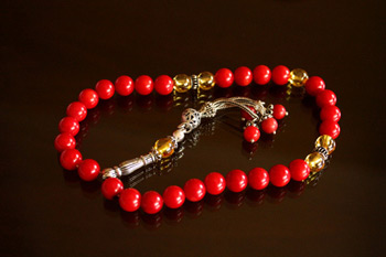 Japa Mala with Coral