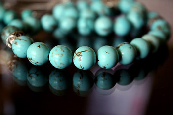Prayer beads with Howlite Turquoise